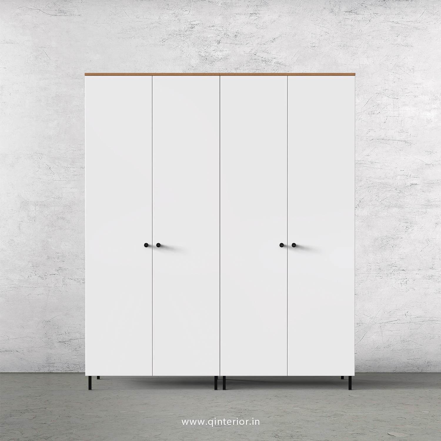 Lambent 4 Door Wardrobe in Oak and White Finish – FWRD001 C8