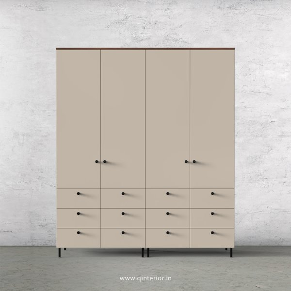 Lambent 4 Door Wardrobe in Teak and Irish Cream Finish – FWRD005 C11