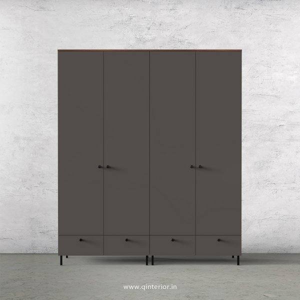 Lambent 4 Door Wardrobe in Teak and Slate Finish – FWRD002 C15