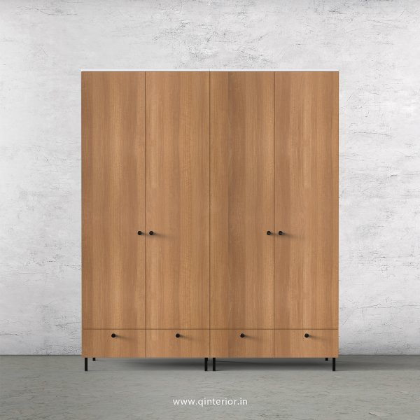 Lambent 4 Door Wardrobe in White and Oak Finish – FWRD002 C86