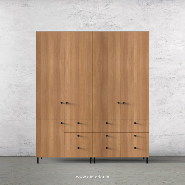Lambent 4 Door Wardrobe in White and Oak Finish – FWRD006 C86