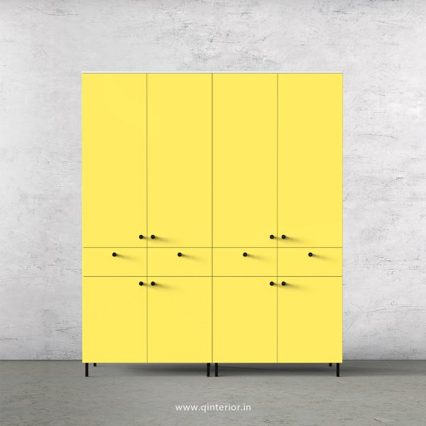 Lambent 4 Door Wardrobe in White and Marigold Finish – FWRD008 C89