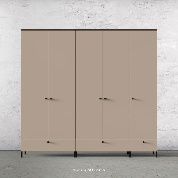 Lambent 5 Door Wardrobe in Walnut and Cappuccino Finish – WRD002 C13