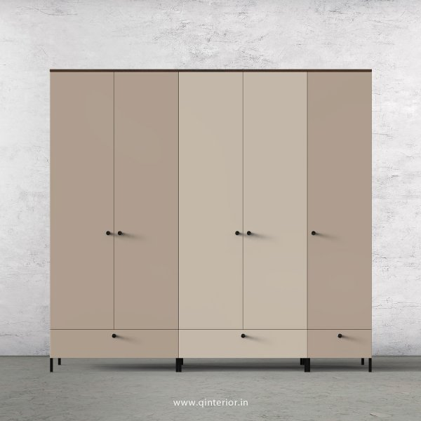 Motley 5 Door Wardrobe in Walnut multi color Finish - WRD002 C32