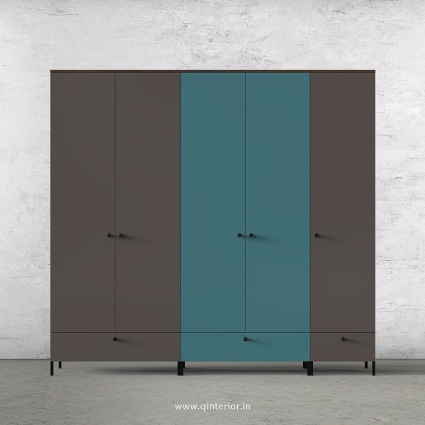 Motley 5 Door Wardrobe in Walnut multi color Finish - WRD002 C33