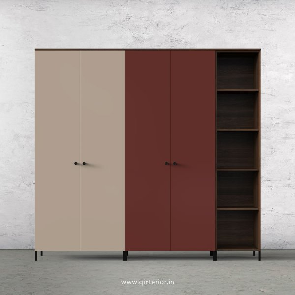 Motley 5 Door Wardrobe in Walnut multi color Finish - WRD012 C88