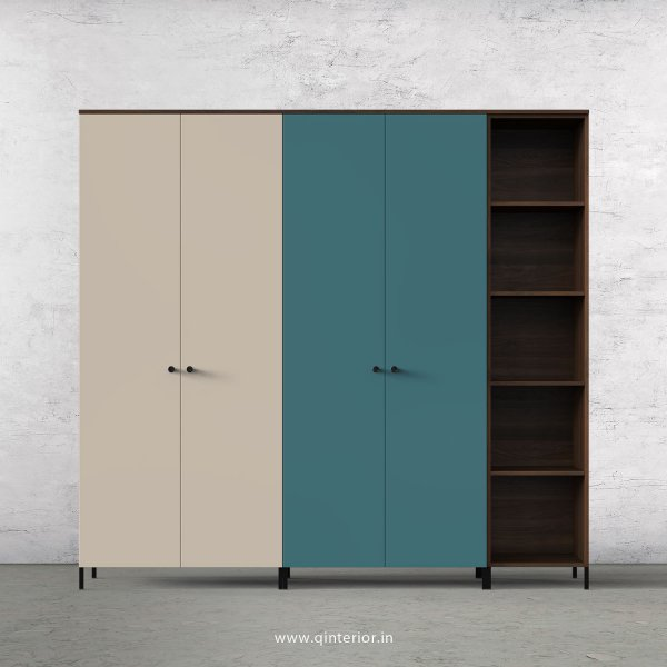 Motley 5 Door Wardrobe in Walnut multi color Finish - WRD012 C89