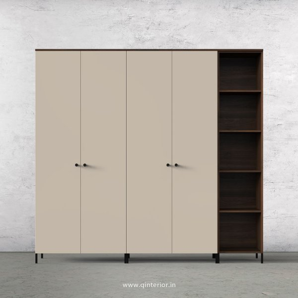 Lambent 5 Door Wardrobe in Walnut and Irish Cream Finish – WRD012 C22