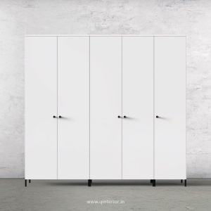 Stable 5 Door Wardrobe in White Finish – WRD001 C4