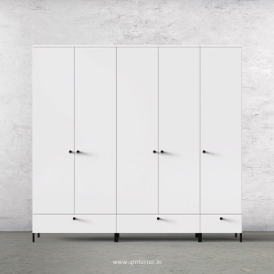 Stable 5 Door Wardrobe in White Finish – WRD002 C4