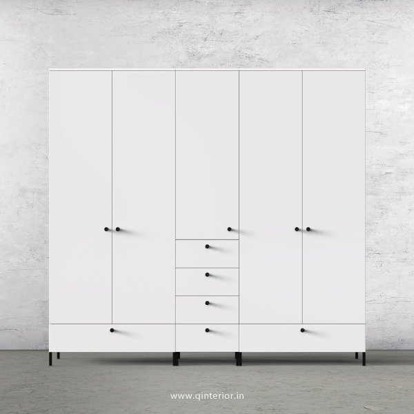 Stable 5 Door Wardrobe in White Finish – WRD003 C4