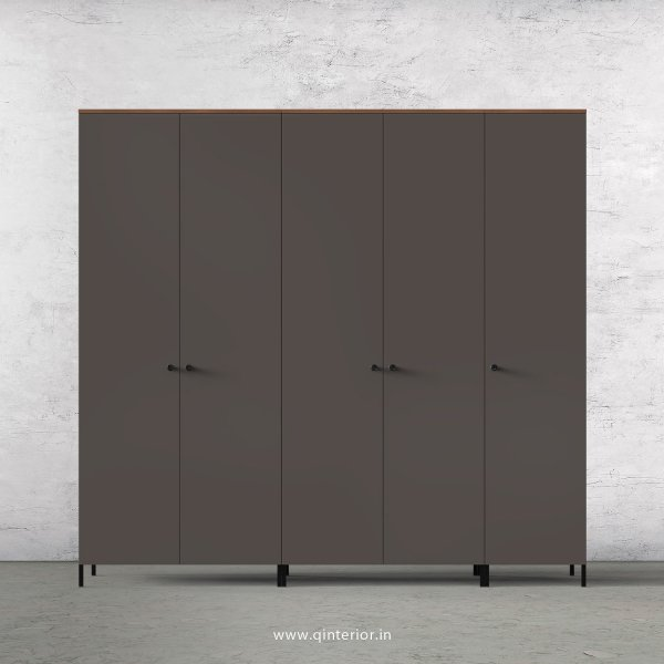 Lambent 5 Door Wardrobe in Teak and Slate Finish – WRD001 C15