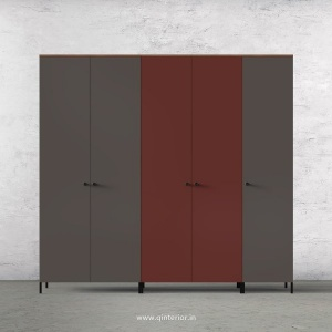 Motley 5 Door Wardrobe in Teak multi color Finish - WRD001 C37