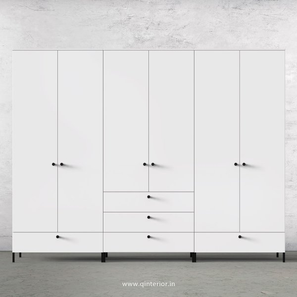 Stable 6 Door Wardrobe in White Finish – WRD016 C4
