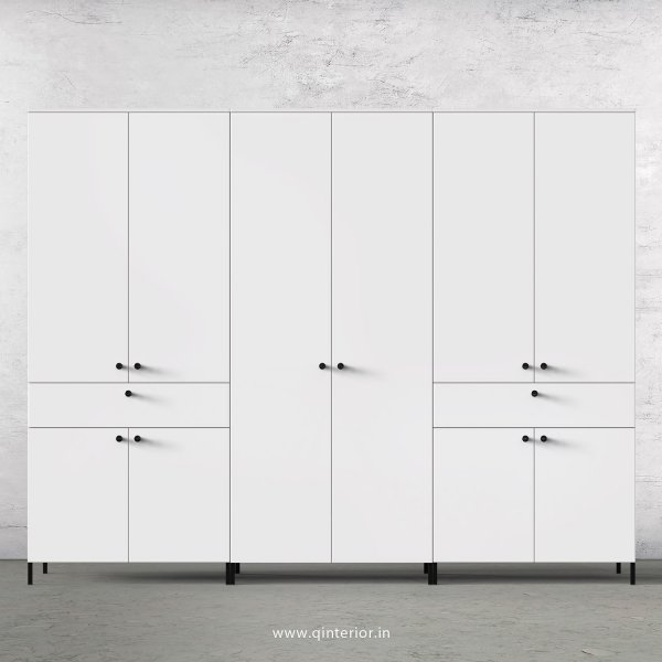 Stable 6 Door Wardrobe in White Finish – WRD022 C4