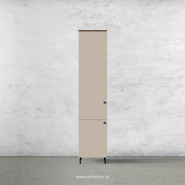 Lambent 1 Door Wardrobe in Walnut and Irish Cream Finish – SWRD005 C22