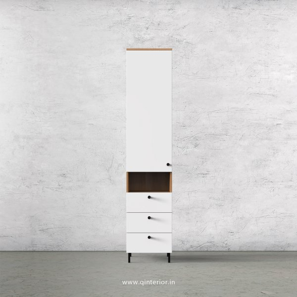 Lambent 1 Door Wardrobe in Oak and White Finish – SWRD014 C8