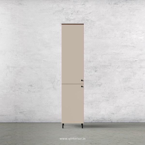 Lambent 1 Door Wardrobe in Teak and Irish Cream Finish – SWRD009 C11