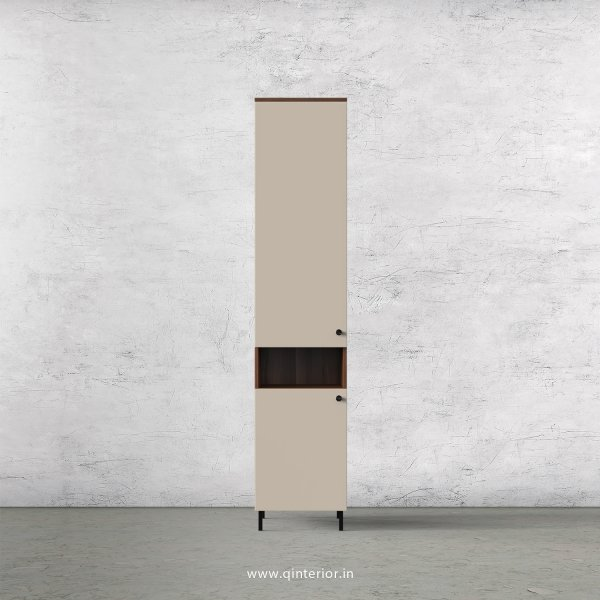 Lambent 1 Door Wardrobe in Teak and Irish Cream Finish – SWRD015 C11