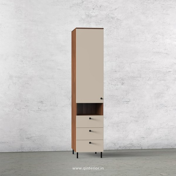 Lambent 1 Door Wardrobe in Teak and Irish Cream Finish – SWRD014 C11