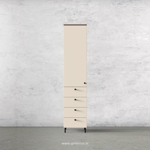 Lambent 1 Door Wardrobe in Teak and Ceramic Finish – SWRD008 C64