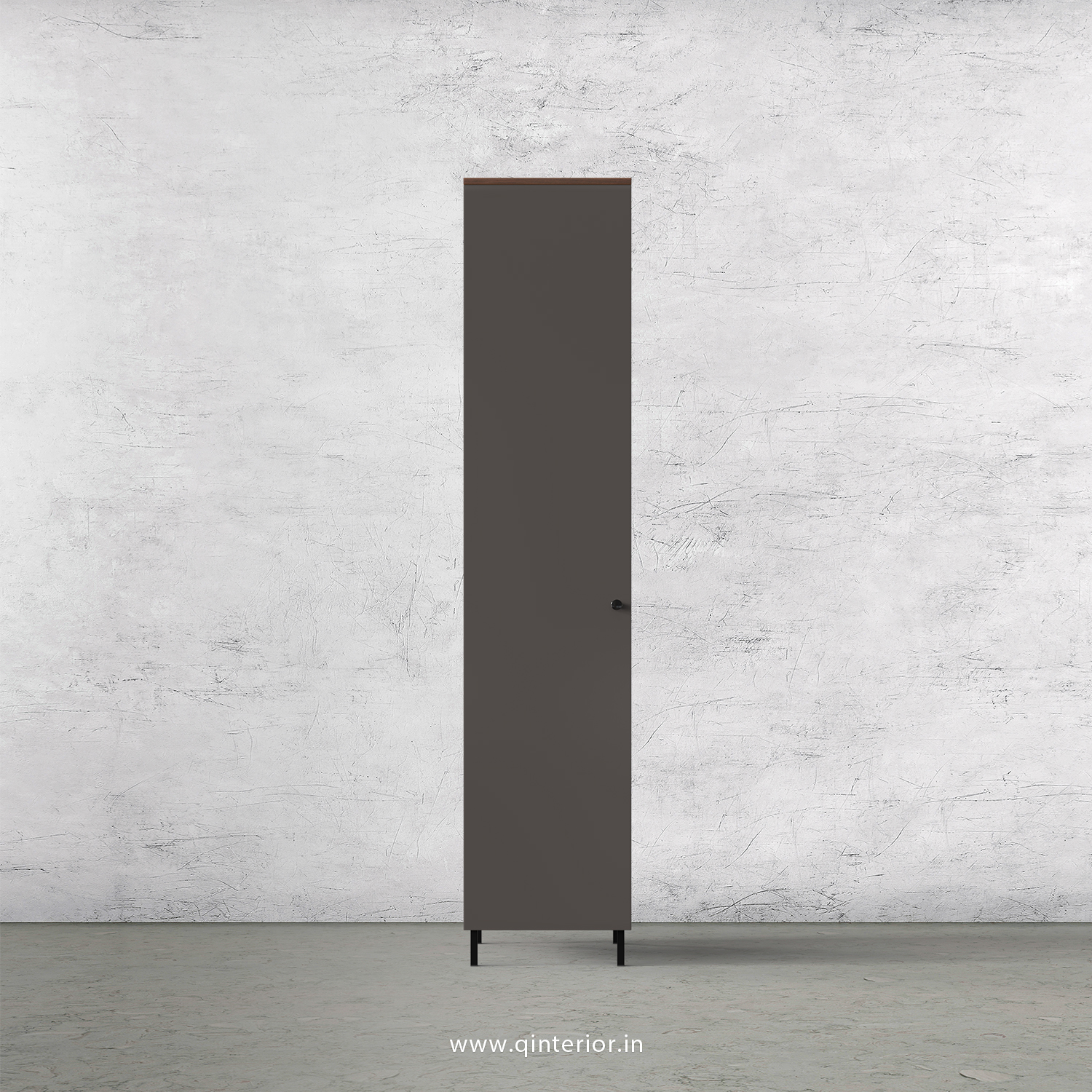 Lambent 1 Door Wardrobe in Teak and Slate Finish – SWRD001 C15