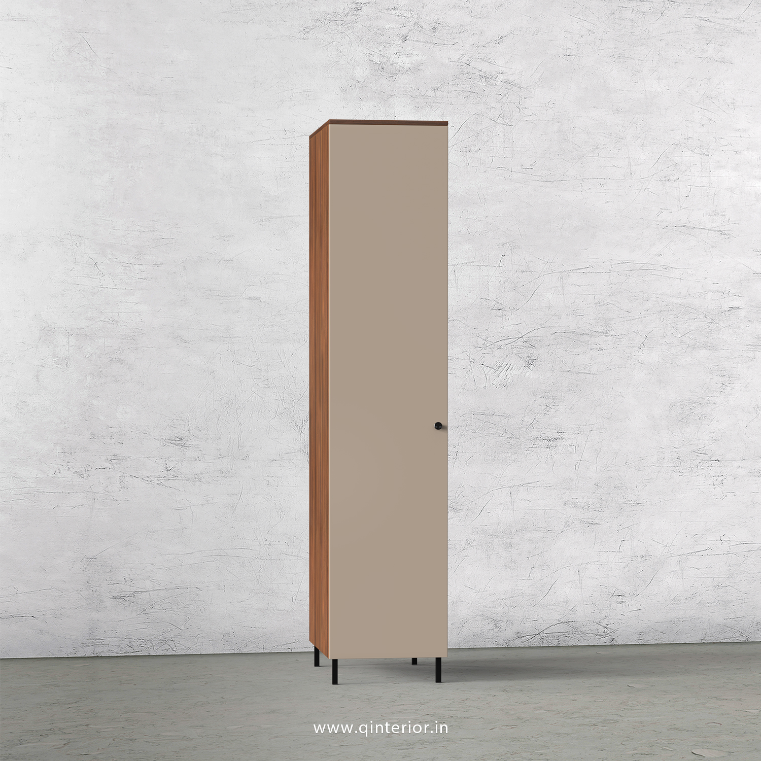 Lambent 1 Door Wardrobe in Teak and Cappuccino Finish – SWRD001 C20
