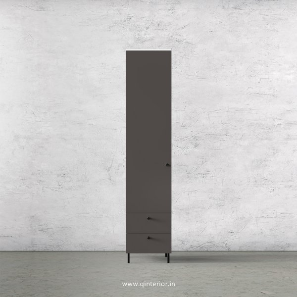 Lambent 1 Door Wardrobe in White and Slate Finish – SWRD004 C16
