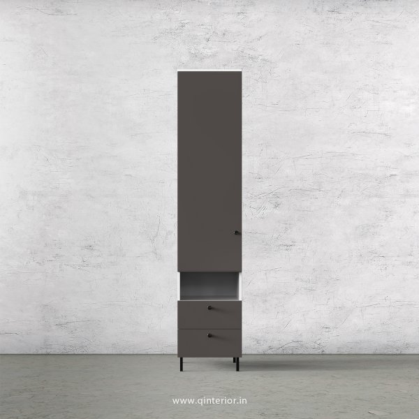 Lambent 1 Door Wardrobe in White and Slate Finish – SWRD006 C16
