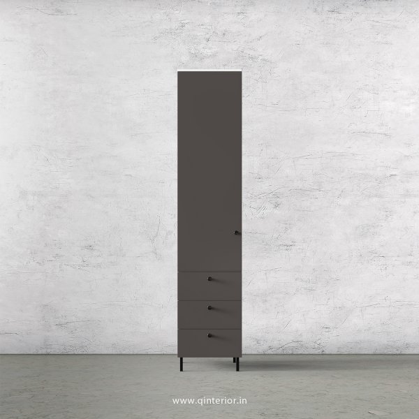 Lambent 1 Door Wardrobe in White and Slate Finish – SWRD016 C16