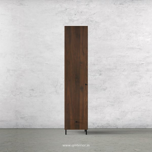 Lambent 1 Door Wardrobe in White and Walnut Finish – SWRD002 C67