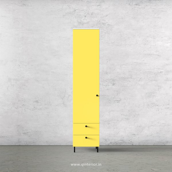 Lambent 1 Door Wardrobe in White and Marigold Finish – SWRD004 C89