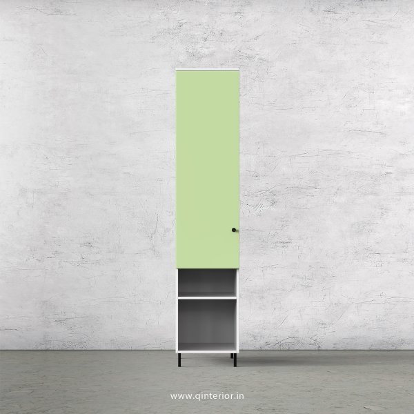 Lambent 1 Door Wardrobe in White and Pairie Green Finish – SWRD007 C83