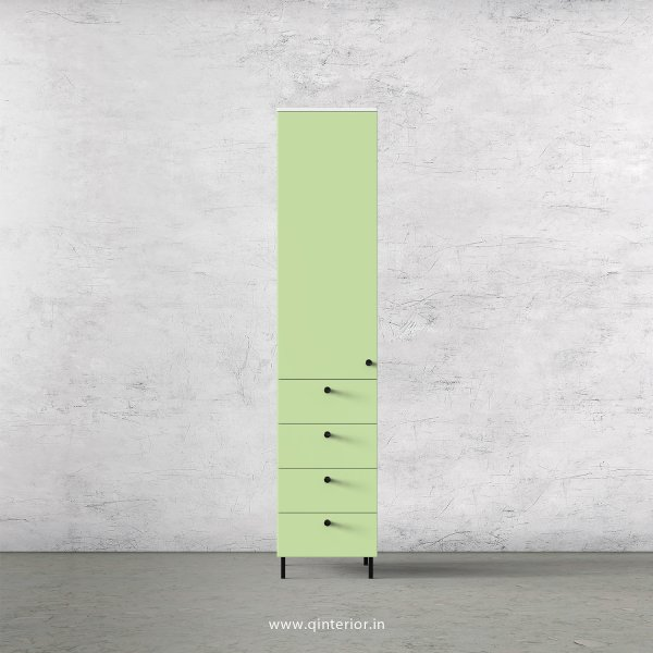 Lambent  1 Door Wardrobe in White and Pairie Green Finish – SWRD008 C83
