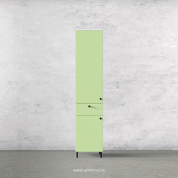 Lambent 1 Door Wardrobe in White and Pairie Green Finish – SWRD010 C83