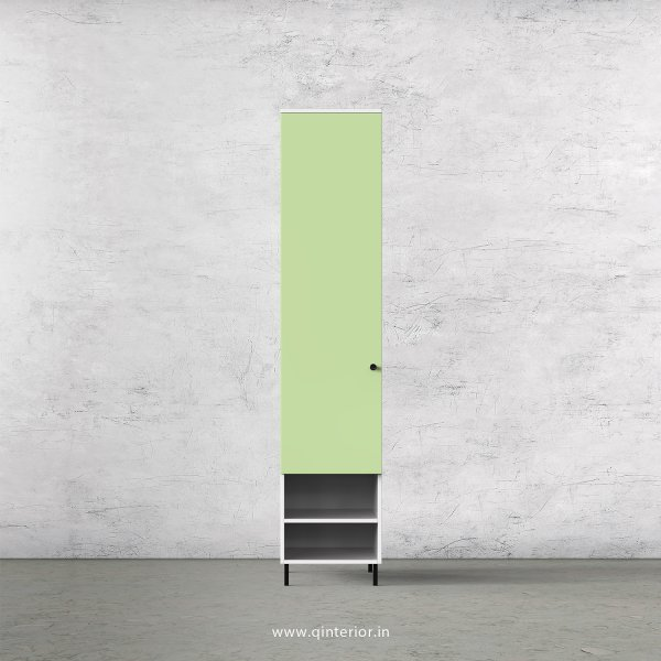 Lambent 1 Door Wardrobe in White and Pairie Green Finish – SWRD017 C83