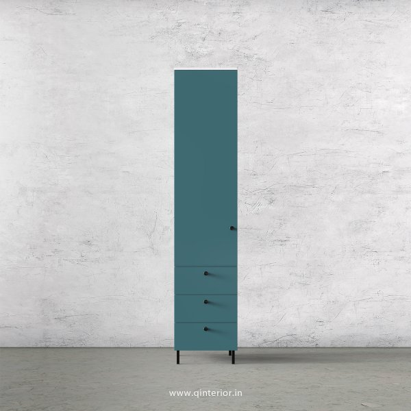 Lambent 1 Door Wardrobe in White and Shore Finish – SWRD016 C12