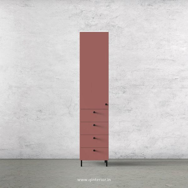 Lambent  1 Door Wardrobe in White and Blush Finish – SWRD008 C17
