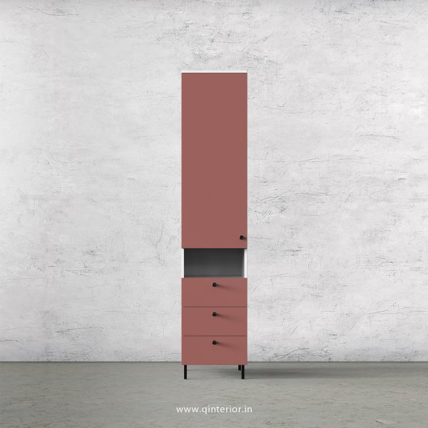 Lambent 1 Door Wardrobe in White and Blush Finish – SWRD014 C17