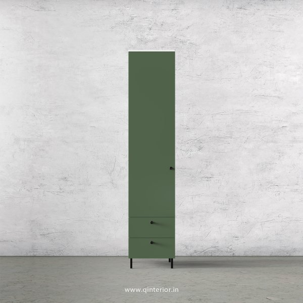 Lambent 1 Door Wardrobe in White and English Ivy Finish – SWRD004 C82