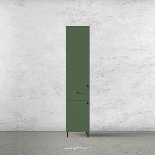 Lambent 1 Door Wardrobe in White and English Ivy Finish – SWRD010 C82