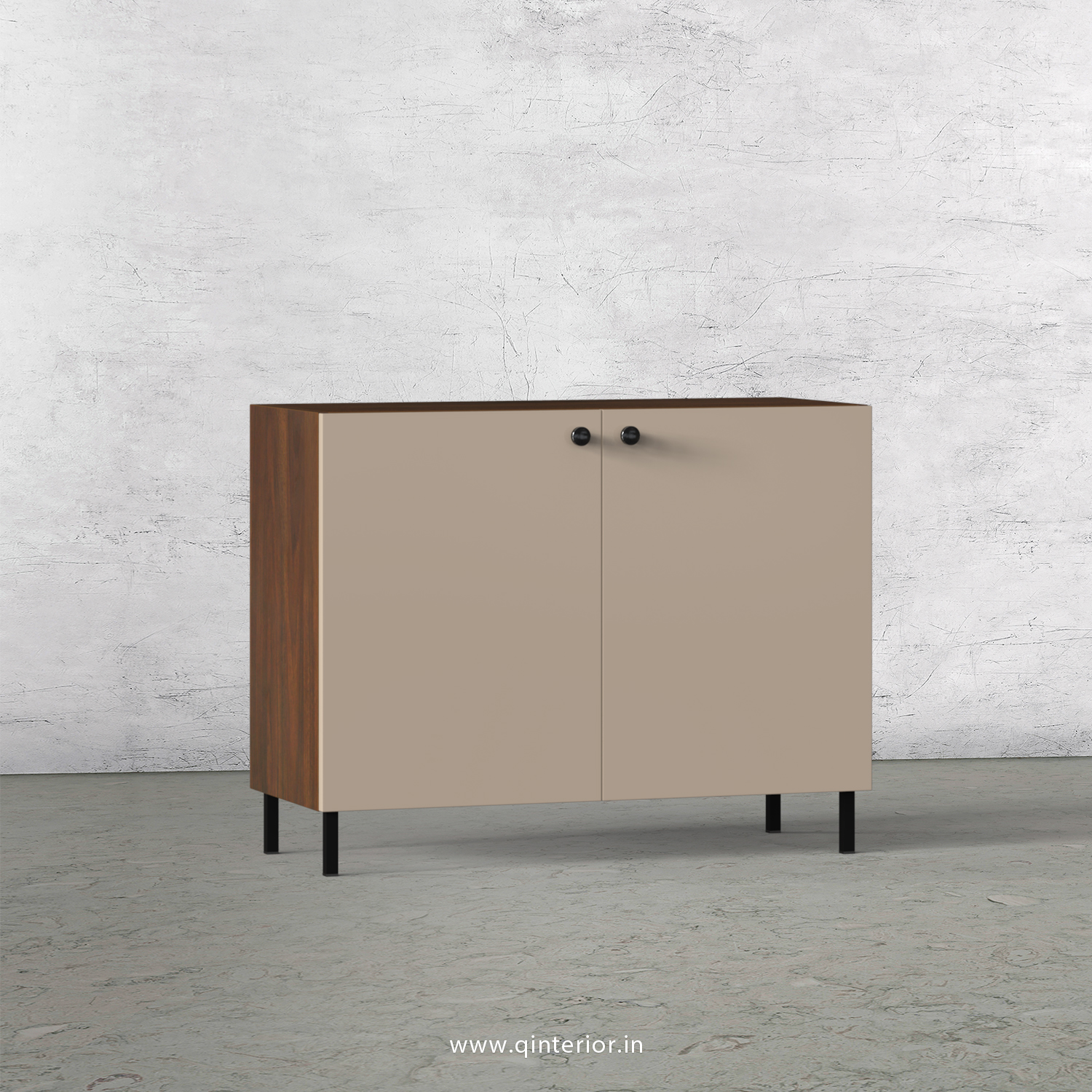 Lambent Washbasin Cabinet in Walnut and Cappuccino Finish – WBC001 C13