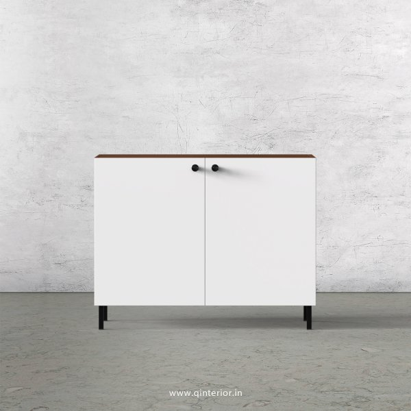 Lambent Washbasin Cabinet in Teak and White Finish – WBC001 C6