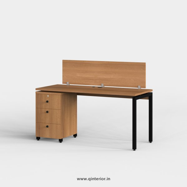 Montel Work Station with Pedestal Unit in Oak Finish - OWS104 C2