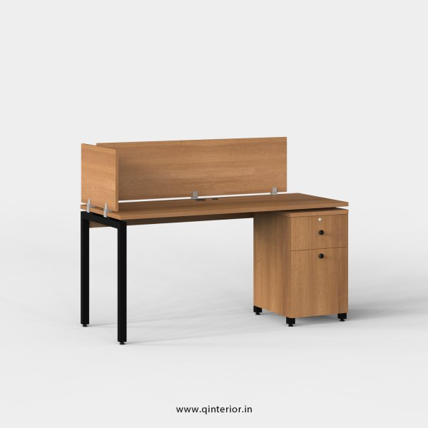Montel Work Station with Pedestal Unit in Oak Finish - OWS210 C2