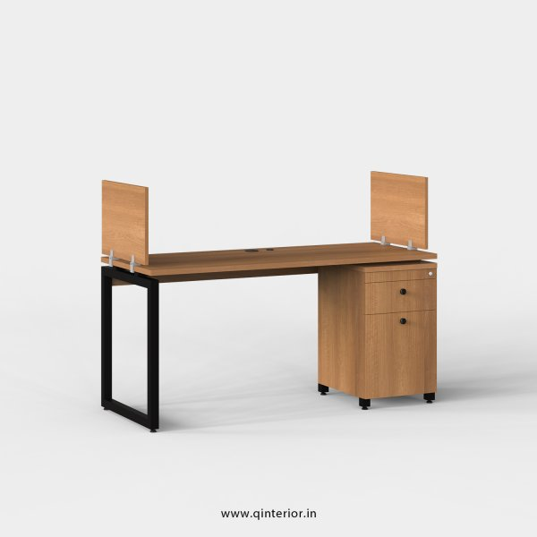 Aaron Work Station with Pedestal Unit in Oak Finish - OWS218 C2