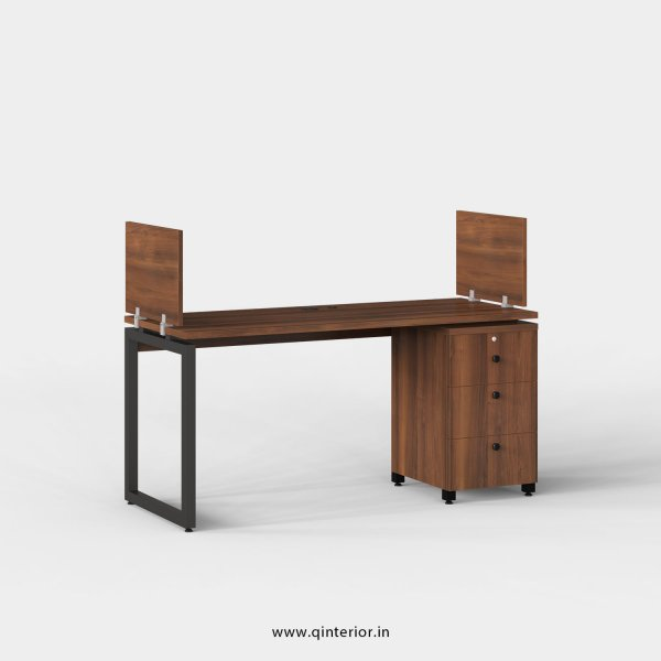 Aaron Work Station with Pedestal Unit in Teak Finish - OWS107 C3