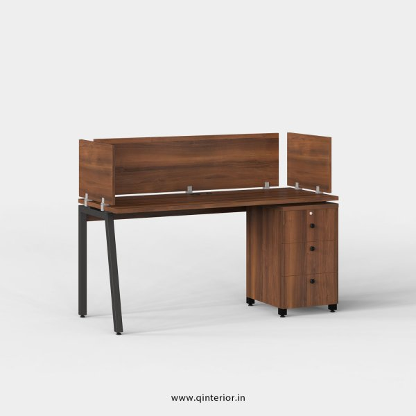 Berg Work Station with Pedestal Unit in Teak Finish - OWS113 C3