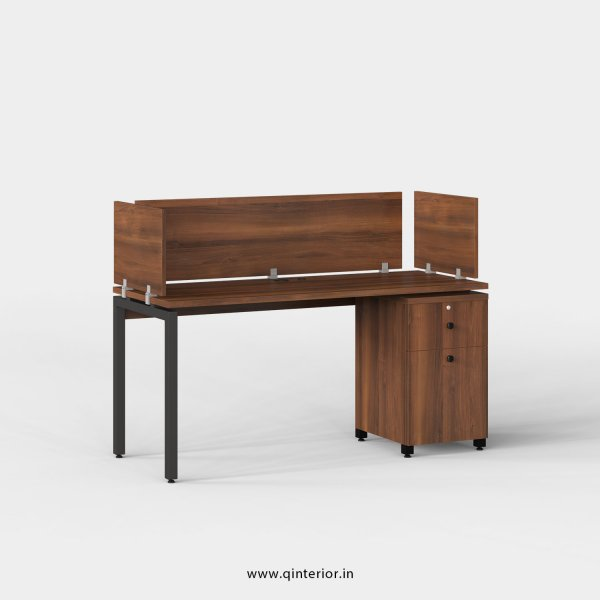 Montel Work Station with Pedestal Unit in Teak Finish - OWS212 C3