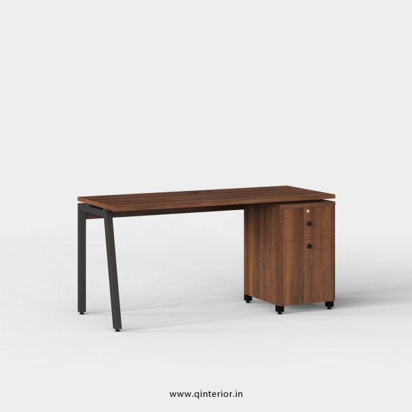 Berg Work Station with Pedestal Unit in Teak Finish - OWS202 C3